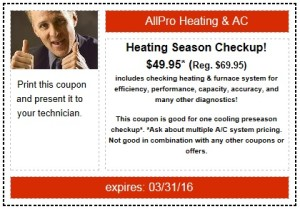 Heating Repairs Coupon