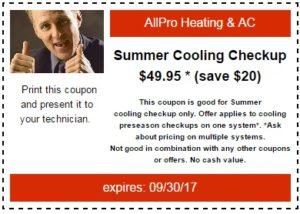 AC Cooling Checkup Coupon